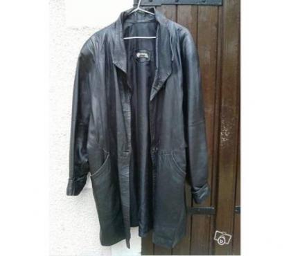 Photos Vivastreet Manteau femme 3/4 cuir souple noir taille 46