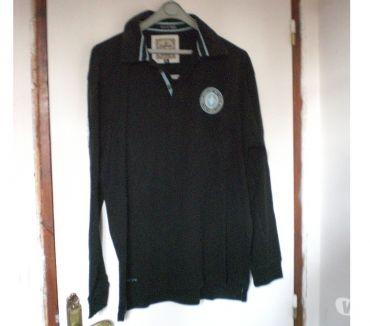 Photos Vivastreet Polo de rugby ML noirturquoise T XL