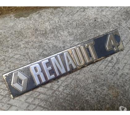 Photos Vivastreet Badge logo monogramme R4 en inox , Renault 4