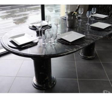Photos Vivastreet Table de salle à manger ovale en marbre fossilisé