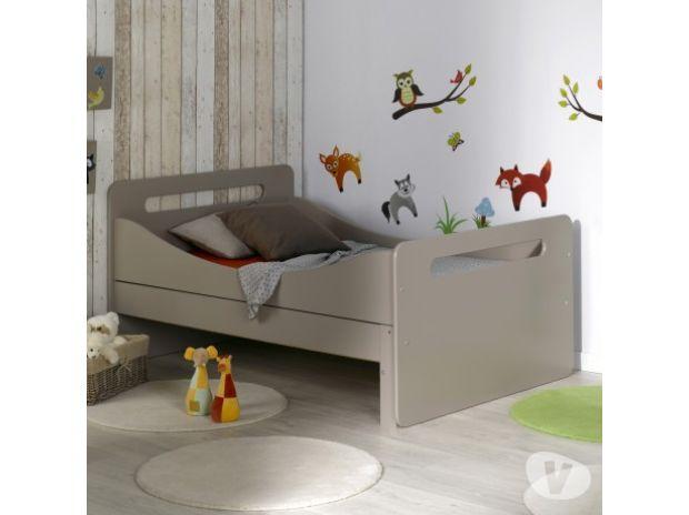lit evolutif avec sommier lin 90x140 190 tourcoing 59200 meubles pas cher d 39 occasion. Black Bedroom Furniture Sets. Home Design Ideas