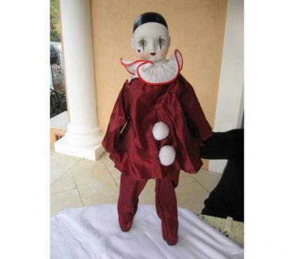 Photos Vivastreet Pierrot rouge en porcelaine n° 1 - jpm06