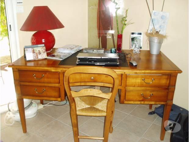 bureau merisier massif leguevin 31490 meubles pas cher d 39 occasion vivastreet. Black Bedroom Furniture Sets. Home Design Ideas
