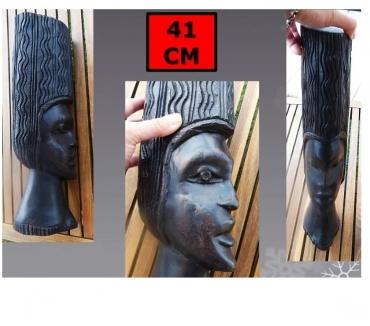 Photos Vivastreet Statue africaine TETE + cheveux (hauteur 41 cm)