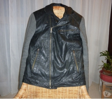 Photos Vivastreet Veste en cuir noir polyuréthane - Celio - M