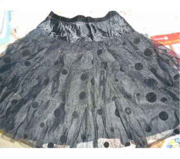 Photos Vivastreet Jupe noir acétate volants tulle à poids