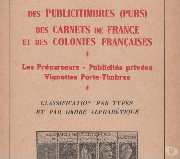 Photos Vivastreet Catalogue des Publicitimbres de France et des Colonies