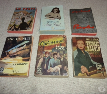 Photos Vivastreet 6 anciens livres de poche (1954 à 1966)