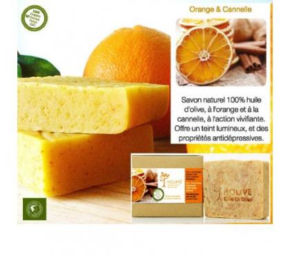 Photos Vivastreet Savon naturel 100% H.Olive Orange et Cannelle - 120 gr