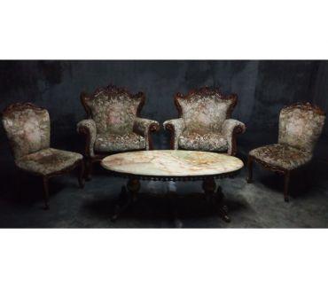 Photos Vivastreet Fauteuils anciens avec table basse en marbre
