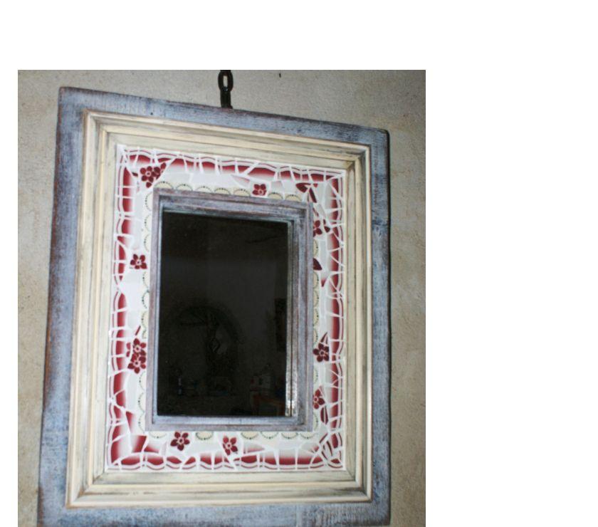 Photos Vivastreet miroir bois et mosaïque picassiette