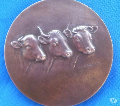 Photos Vivastreet Medaille bronze J H COEFFIN (motif vache)