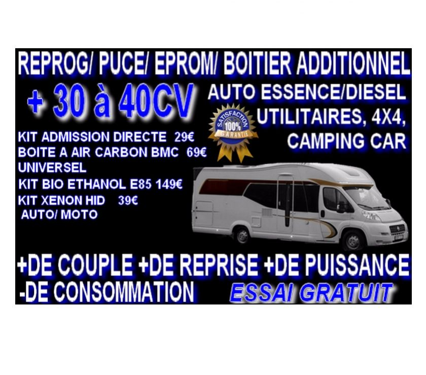 Boitier additionnel puce tuning Peugeot Expert Camionnette 1.6 BlueHDi 115 115ch