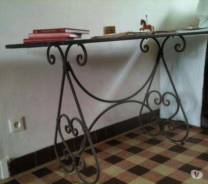 Photos Vivastreet Table fer forgé & Zinc