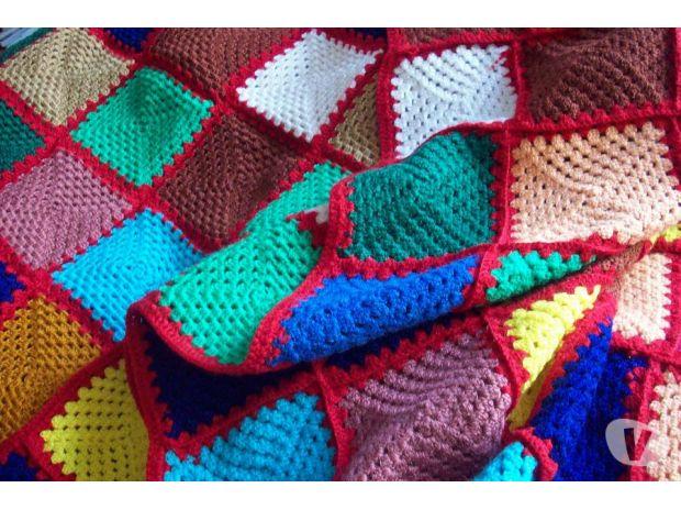 couverture crochet patchwork