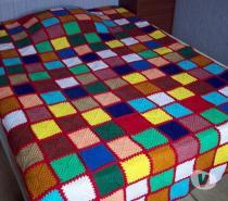 Photos Vivastreet Couverture Laine Plaid Crochet Patchwork Jeté de lit