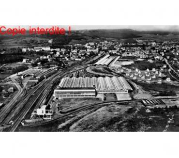 Photos Vivastreet Vittel - vue semi-aérienne, N & B argentique 27x45cm, 1960