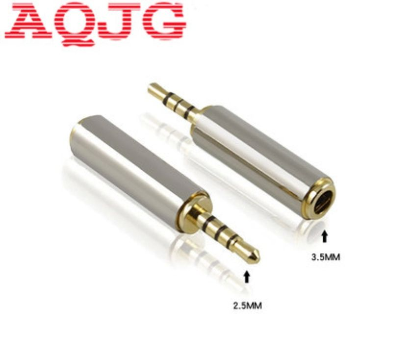 Photos Vivastreet 1pc Gold 2.5 mm Male to 3.5 mm Female audio Stereo Adapter P