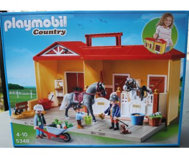 Photos Vivastreet Playmobil 5348 Maison country écurie transportable NEUF !!!