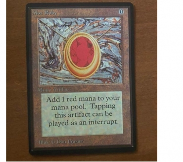 Photos Vivastreet MTG Crte Magic Mox Ruby Beta (rare)