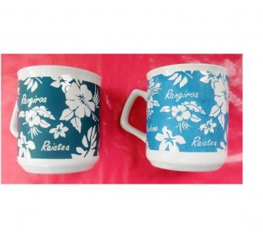 Photos Vivastreet 2 mugs (chopes) en céramique d'occasion ramenées de Tahiti