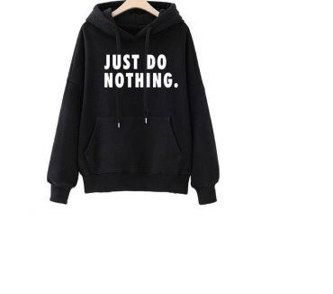 Photos Vivastreet Sweat SHirt Noir M JUST DO NOTHING NEUF