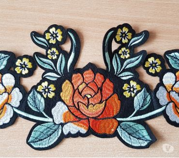 Photos Vivastreet écusson brodé bouquet de fleur taille XL n°2