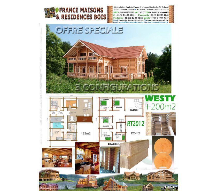 Photos Vivastreet MAISON EN BOIS MASSIF RONDIN OU MADRIER -RT2012 - WESTY-