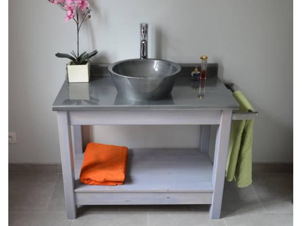 meuble de salle de bains avec plan et vasque zinc misterzinc romenay 71470 meubles pas. Black Bedroom Furniture Sets. Home Design Ideas