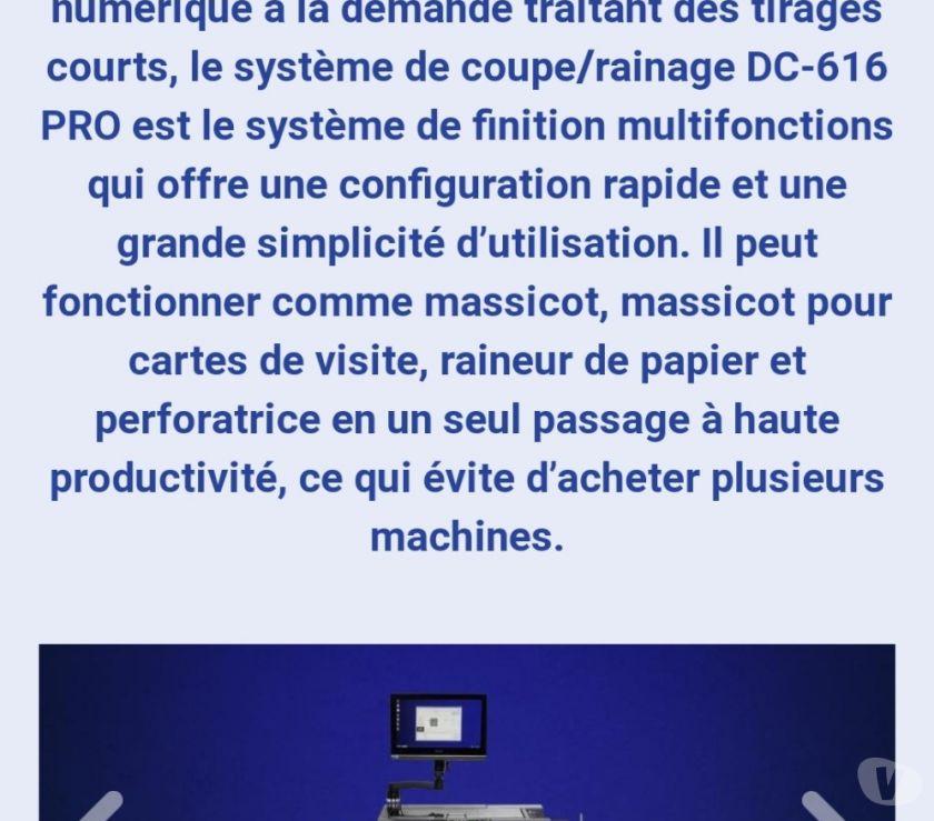 Matériel Paris Paris 18ème ardt - 75018 - Photos Vivastreet Coupeuse carte Duplo DC 616