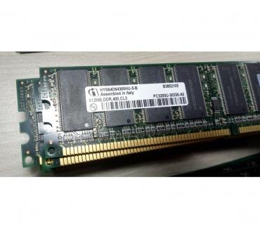 Photos Vivastreet RAM 512MB DDR 400 CL3 PC3200U-30330-A0 HYS64D64300HU-5-B