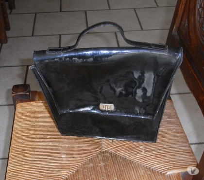 Photos Vivastreet sac en cuir noir verni