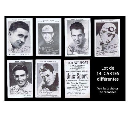 Photos Vivastreet Vélo, Cyclisme: Lot de 14 CARTES publicitaires des années 30