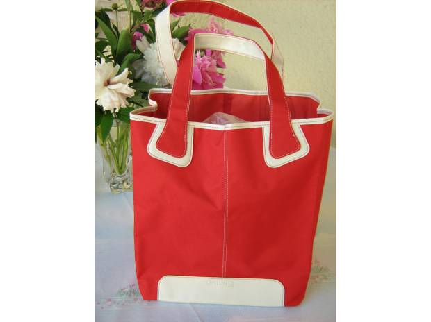 Photos Vivastreet grand sac rouge et beige