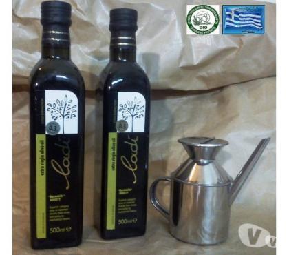 Photos Vivastreet 1 L Huile d'Olive Crète (2x0500LVerre)+1 Huilier Inox 300ml