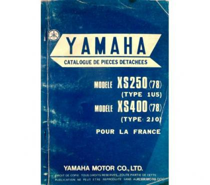 Photos Vivastreet Part list YAMAHA 250 et 400 XS de 1978