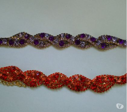Photos Vivastreet bracelets brillants orange ou mauve