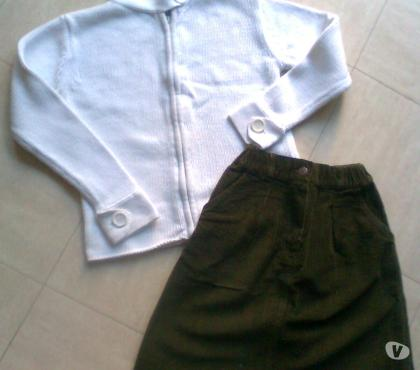 Photos Vivastreet JUPE vert kaki- cardigan blanc 10 ans - zoe