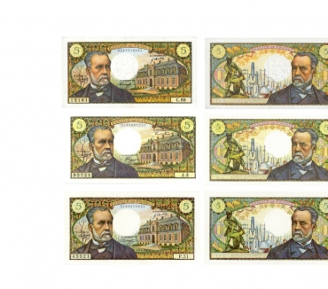 Photos Vivastreet F 61 LOT 6 BILLETS 5 F PASTEUR C 550€