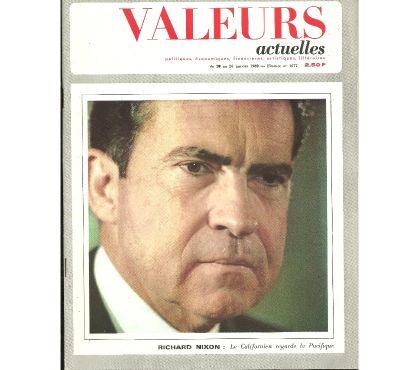 Photos Vivastreet VALEURS ACTUELLES N° 1677 du 20 janvier 1969 - Richard NIXON