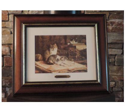 Photos Vivastreet Cadre avec gravure chats de Van Den Eycken