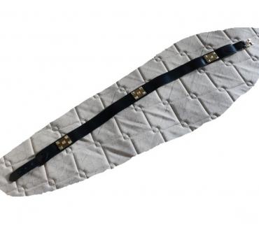 Photos Vivastreet ceinture cuir bleu marine longueur 88 cm largeur 3.8 cm