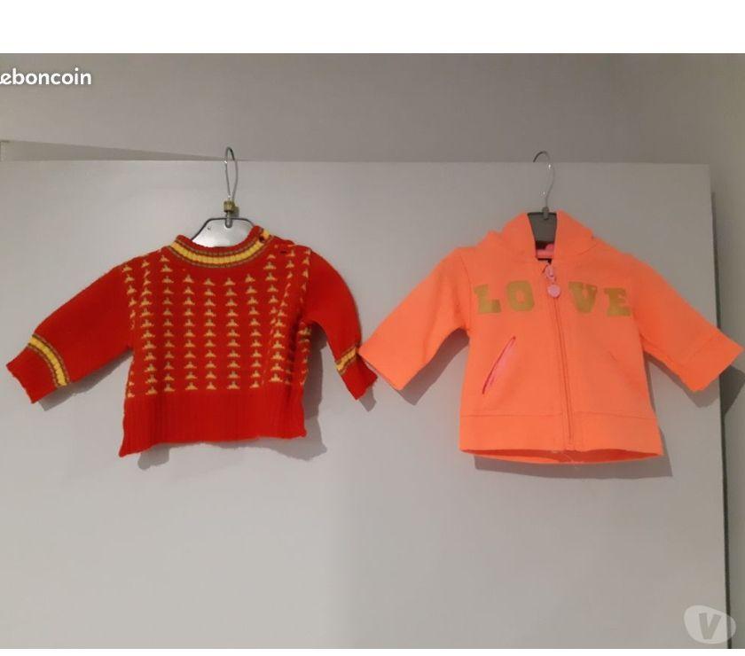 Vêtements bébés Puy-de-Dôme Clermont Ferrand - Photos Vivastreet Sweat à capuche KIABI 1 mois