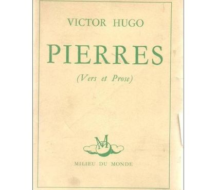 Photos Vivastreet Victor HUGO - Pierres (vers et prose) 1951