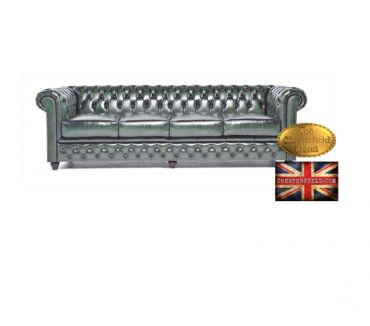 Photos Vivastreet Canapé Chesterfield Antique Vert 4 places
