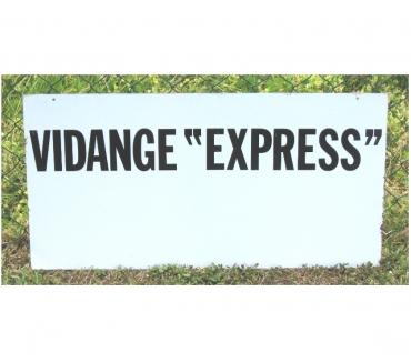 Photos Vivastreet Plaque publicitaire de garage Vidange Express