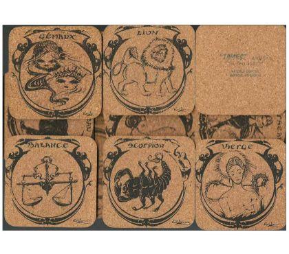 Photos Vivastreet Dessous de verre en liege, signes du zodiaque