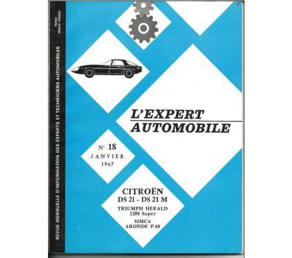 Photos Vivastreet L'expert automobile n° 18 de janvier 1967 -Citroen DS21 - DS