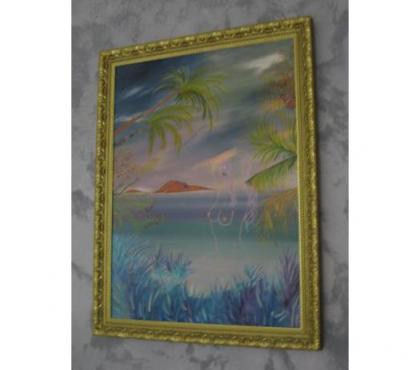 Photos Vivastreet Tableau à l'huile paysage marin femme nue - jpm06