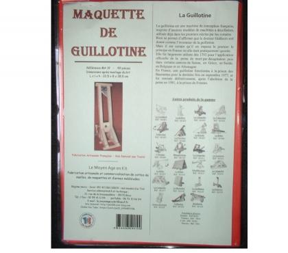 Photos Vivastreet Maquette de guillotine, modèle 1792